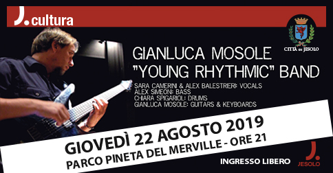Gianluca Mosole Young Rhythmic Band al Parco Pineta di Jesolo giovedì 22 agosto 2019
