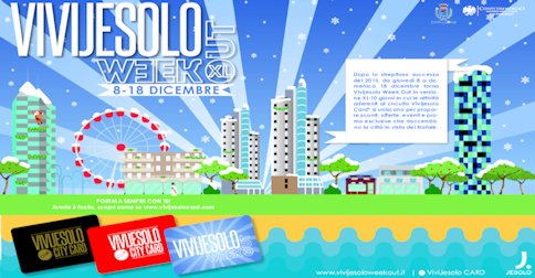 ViviJesolo Week Out 8-18 dicembre 2016