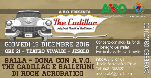 The Cadillac original Rock 'n Roll Band con concerto a Jesolo il 15 dicembre