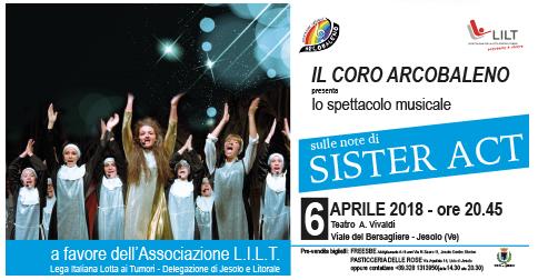 Spettacolo musicale sulle note di Sister Act al teatro Vivaldi di Jesolo il 6 aprile 2018