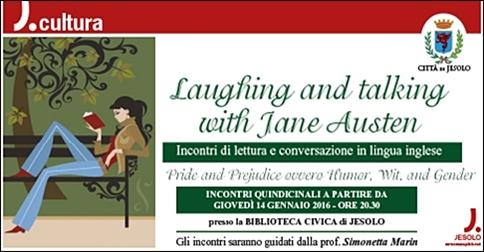 incontri di lettura e conversazione in lingua inglese presso la biblioteca civica di Jesolo