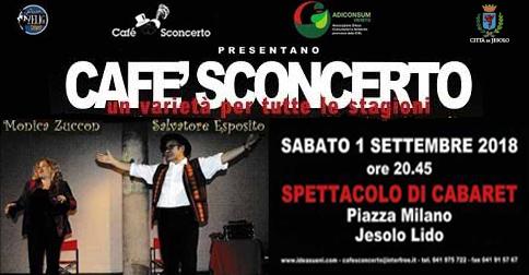 cafè sconcerto a Jesolo sabato 1 settembre 2018 piazza Milano
