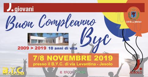 Il BYC di Jesolo festeggia 10 anni di attività sabato 7 e domenica 8 novembre 2019