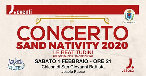 Concerto Sand Nativity 2020 a Jesolo il 1 febbraio