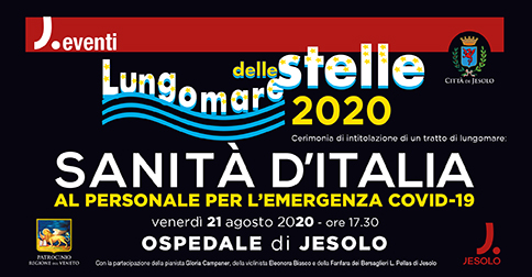 Il Lungomare delle stelle 2020 a Jesolo intitolato alla Sanità d'Italia