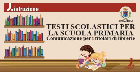 Avviso per i titolari di librerie sui testi scolastici per la scuola primaria