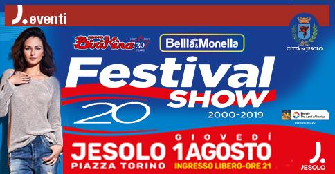 Festival show 2019 in piazza Torino a Jesolo giovedì 1 agosto