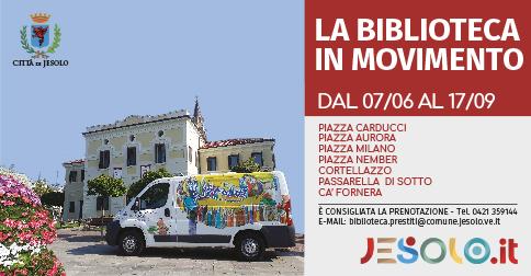 furgone Librobus la biblioteca in movimento