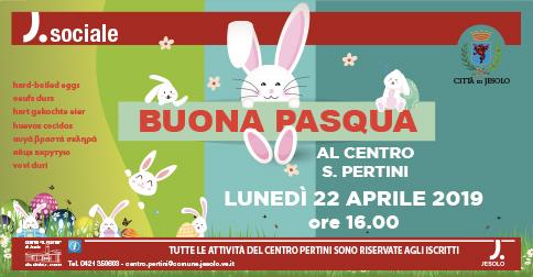 Il Centro Pertini di Jesolo festeggia la Pasqua con tutti gli iscritti lunedì 22 aprile, alle 16