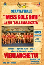 locandina miss sole 2011