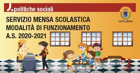 Comune di Jesolo - modalità servizio mensa scolastica a.s. 2020-2021