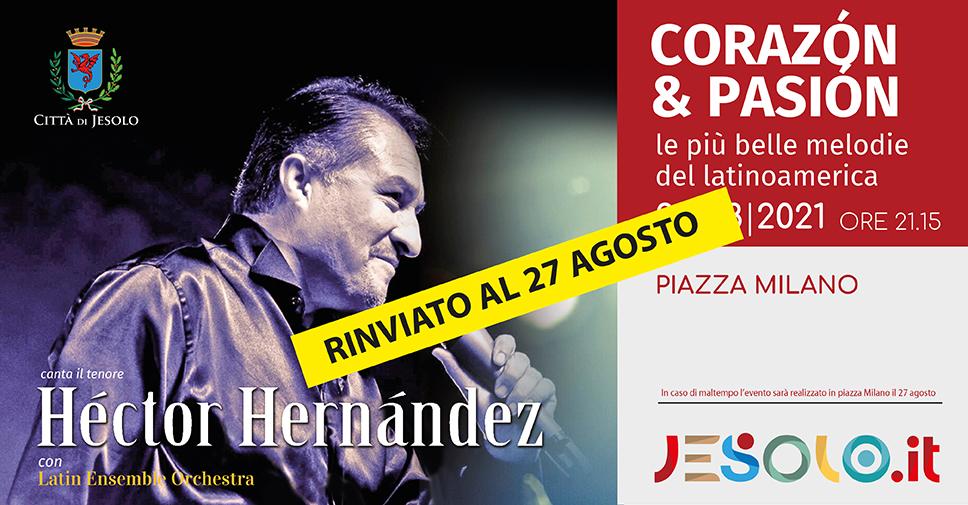 concerto Hector Hernandez e Latin ensemble orchestra a Jesolo il 27 agosto 2021