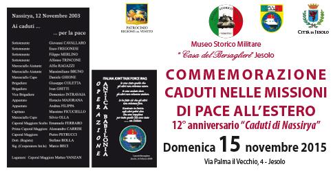 commemorazione caduti nelle missioni di pace all'estero