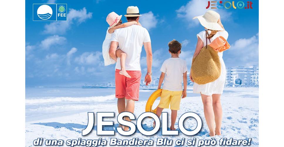 immagine promozionale della Bandiera Blu a Jesolo