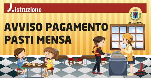 nuova modalità di pagamento dei buoni pasto mensa scolastica nel Comune di Jesolo