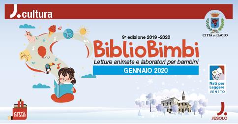 Letture animate e laboratori per bambini a Bibliobimbi, presso la Biblioteca Civica di Jesolo gennaio 2020