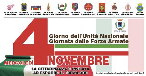 4 Novembre - Giorno dell'Unità Nazionale e Giornata delle Forze Armate