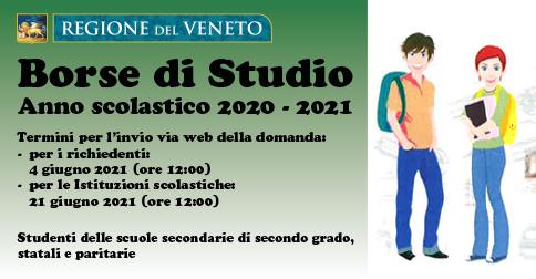 Borse di studio Regione Veneto a.s. 2020-2021