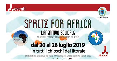 Spritz for Africa a Jesolo dal 20 al 28 luglio 2019 presso i chioschi del litorale