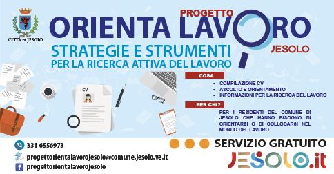 Progetto Orienta Lavoro - nuovo servizio del comune di Jesolo