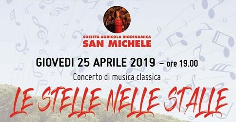 Le stelle nelle stalle - concerto di musica classica presso la Società agricola biodinamica San Michele