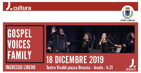 Gospel Voices family 18 dicembre 2019 Teatro Vivaldi Jesolo