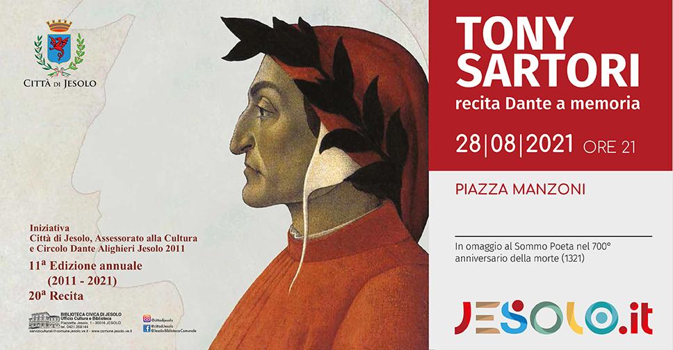 Tony Sartori recita Dante a memoria