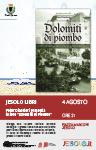 Peter Disertori, Dolomiti di Piombo . Jesolo libri 4 agosto 2021 piazza Marconi