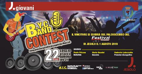 BYC band Contest 2019 lunedì 22 luglio a Jesolo, piazza Aurora