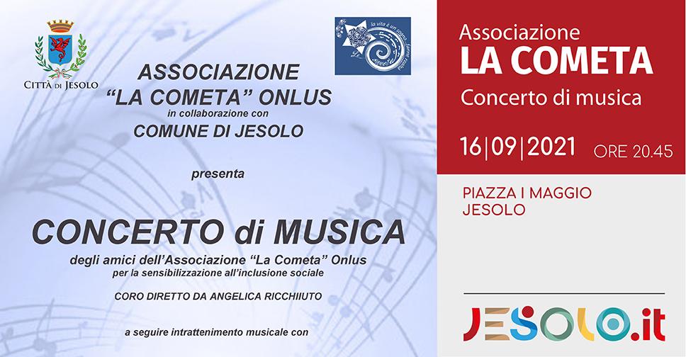 Associazione La Cometa Onlus Concerto di Musica 16 settembre 2021 Piazza I Maggio Jesolo