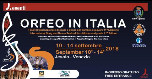 Orfeo in Italia 2018: Festival internazionale di canto e danza a Jesolo