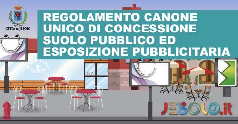 Regolamento per il canone unico di concessione suolo pubblico e autorizzazione ed esposizione pubblicitaria