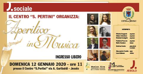 Aperitivo in musica al Centro Pertini di Jesolo, domenica 12 gennaio 2020