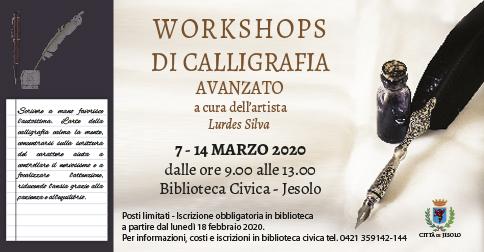 Workshops di calligrafia avanzato a jesolo nel mese di marzo 2020