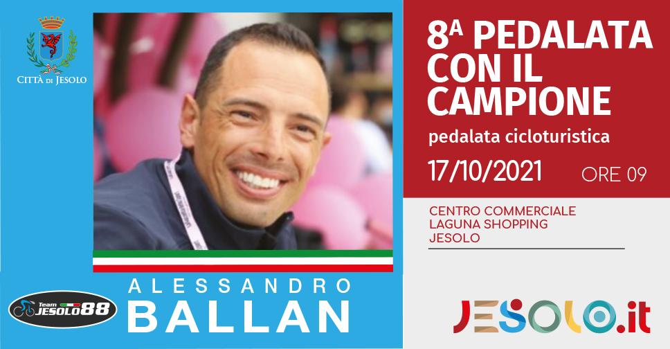 Alessandro Ballan partecipa alla Pedalata con il Campione, a Jesolo domenica 17 ottobre 2021