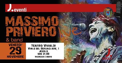 Massimo Priviero &Band Live a Jesolo il 29 novembre 2019 - Teatro Vivaldi