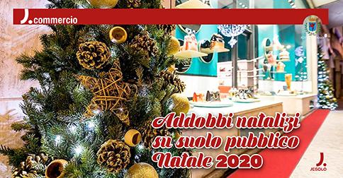 Addobbi natalizi su suolo pubblico Natale 2020