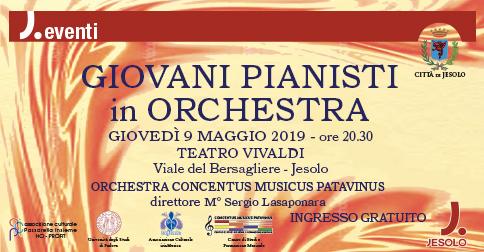 Giovani pianisti in orchestra al Teatro Vivaldi di Jesolo