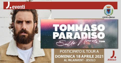 Tommaso Paradiso Sulle Nuvole Tour domenica 18 aprile 2021 a Jesolo