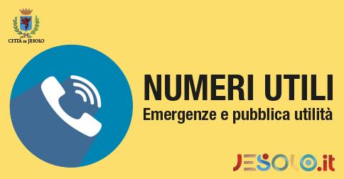 Numeri utili e pubblica utilità