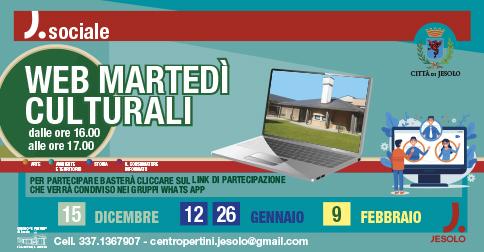 Web martedì culturali al Centro S. Pertini di Jesolo