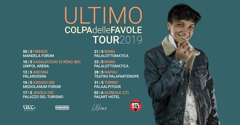 Ultimo in concerto al Palazza del Turismo di Jesolo venerdì 17 maggio 2019