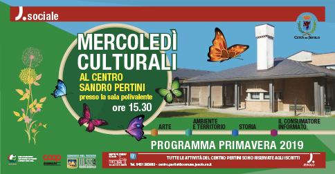 Mercoledì culturali al Centro S. Pertini di Jesolo