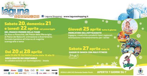 Eventi al Laguna Shopping di Jesolo per Pasqua 2019