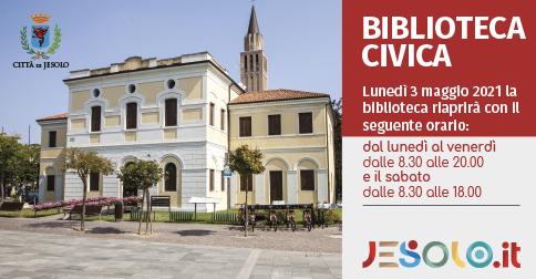 La biblioteca civica di Jesolo riapre al pubblico