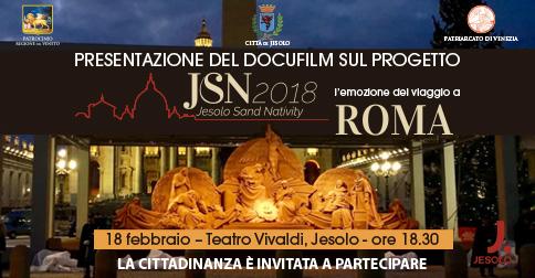 Jesolo Sand Nativity: docufilm al Teatro Vivaldi di Jesolo lunedì 18 febbraio 2019