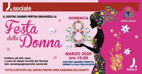 Festa della donna, al Centro Pertini di Jesolo, domenica 8 marzo 2020