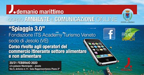Spiaggia 3.0 Corso Ambiente e comunicazione online a Jesolo