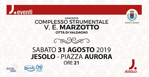 il 31 agosto 2019 a Jesolo il Concerto del Complesso strumentale V.E. Marzotto di Valdagno
