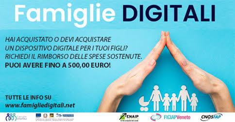 Famiglie digitali contributo regionale per l'acquisto di dispositivi digitali per gli studenti
